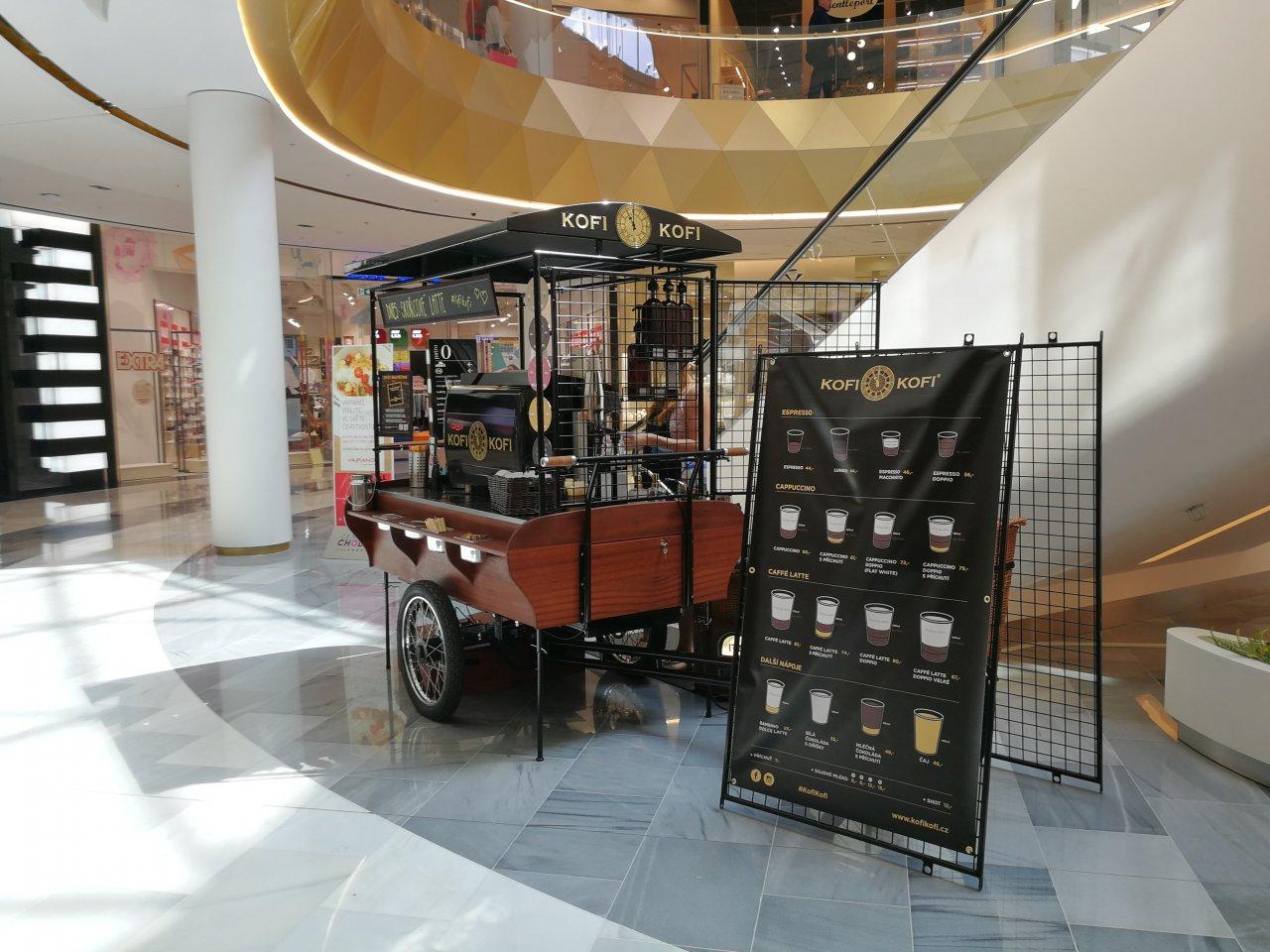 Kávové pop-upy Kofi-Kofi nově hned ve dvou obchodních centrech