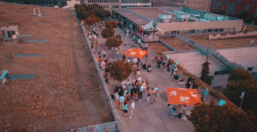 Unique terrace for open-air events on the roof of OC Smíchov