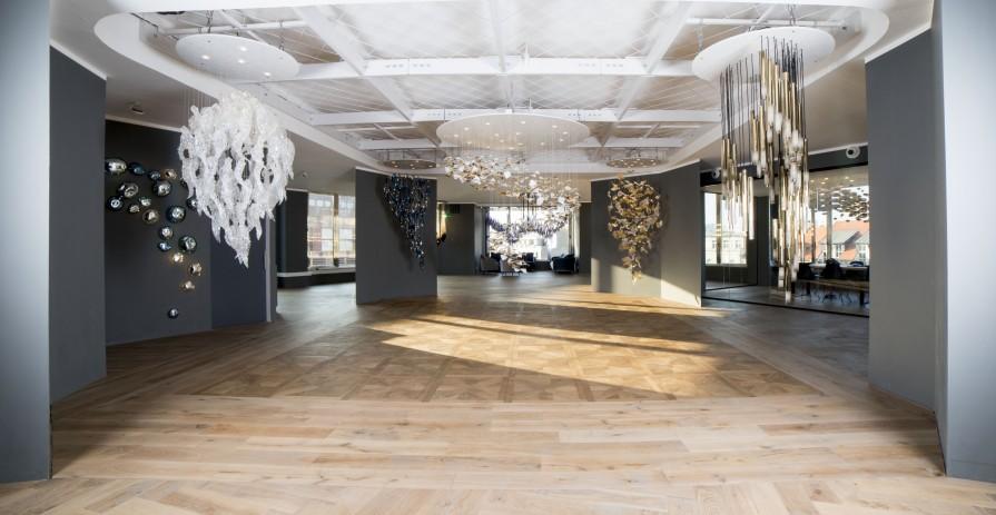 Designový showroom na eventy s výhledem na Václavské náměstí