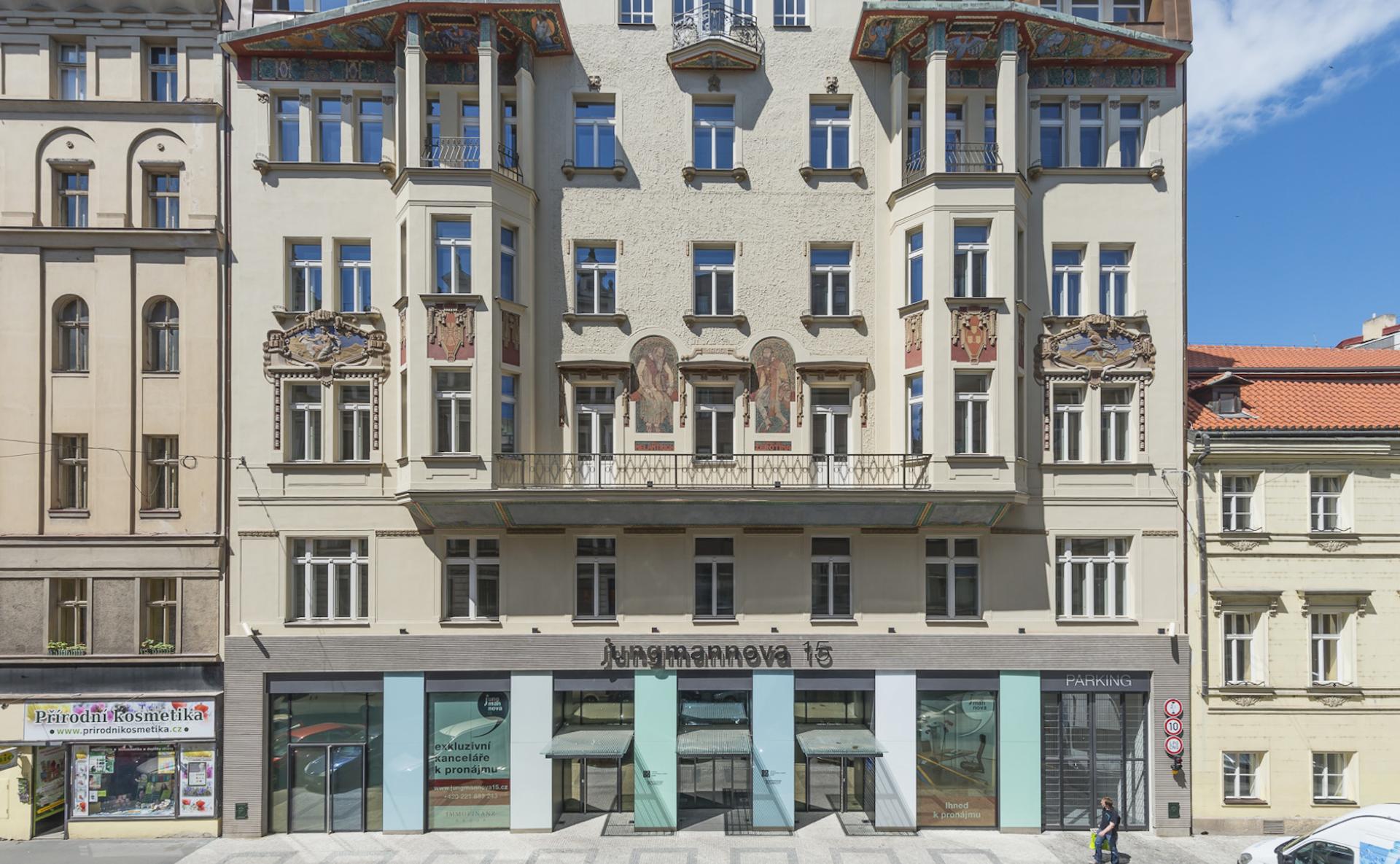 Moderní kanceláře v centru Prahy, Jungmannova