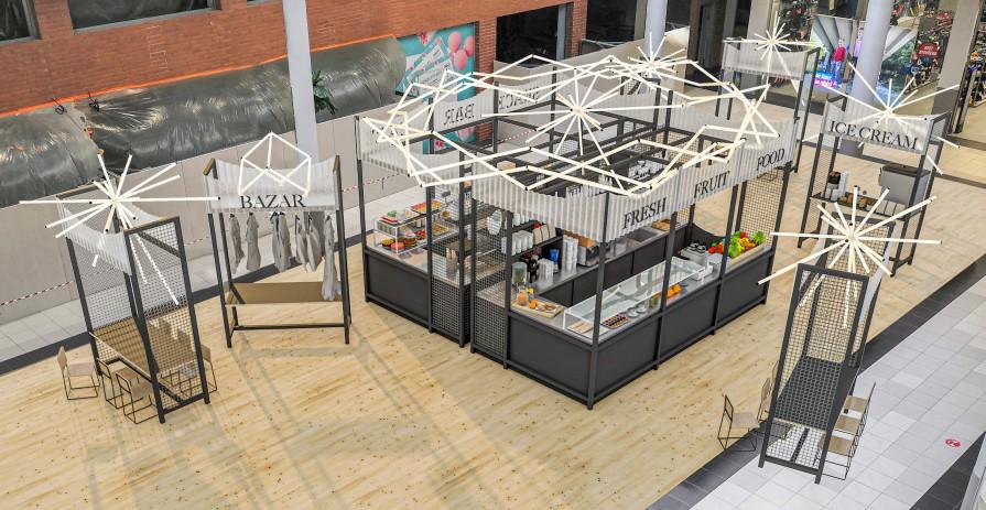 Stánek pro bistro, café nebo bar v nové cool zóně v OC Novo Plaza