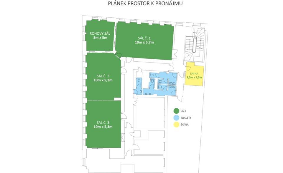 Etnosvět - konferenční prostory Praha 2, u metra I. P. Pavlova