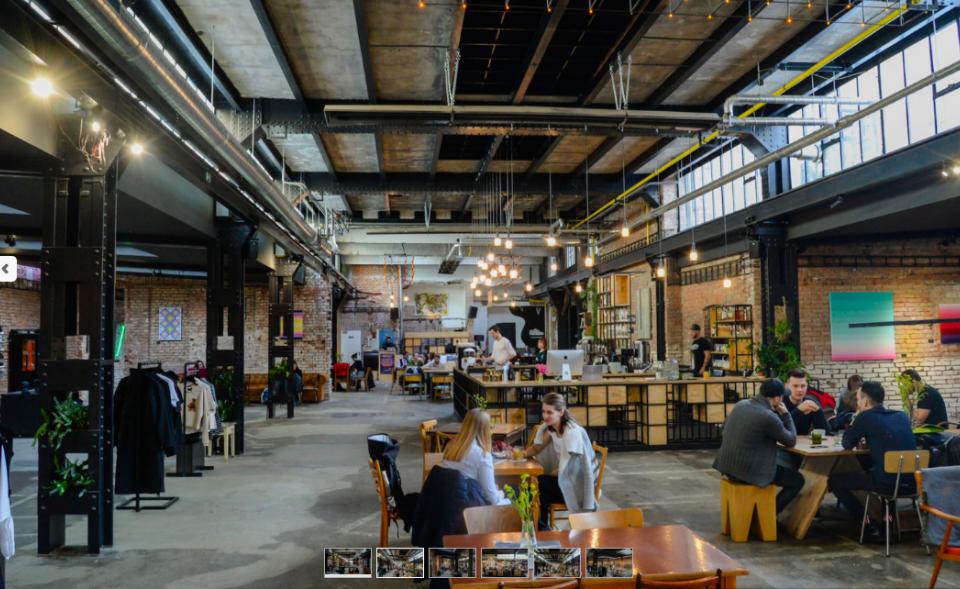 Industriální prostor pro otevřenou akci v Holešovicích