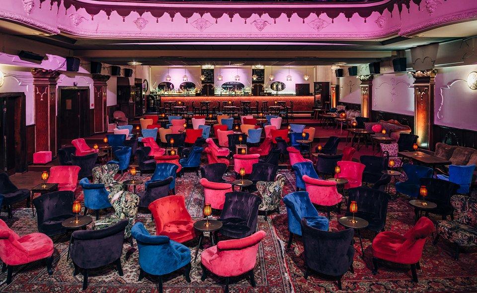 Originální konferenční prostor bývalého biografu, Praha 2, Vinohradská