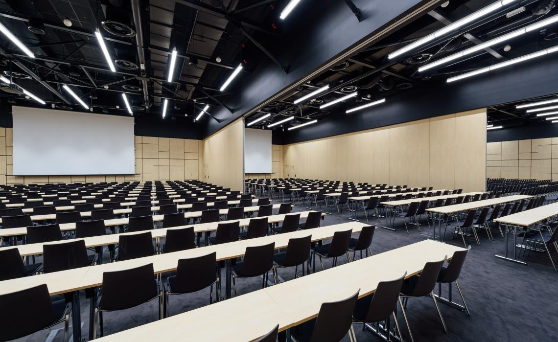 Large conference hall with breakout rooms