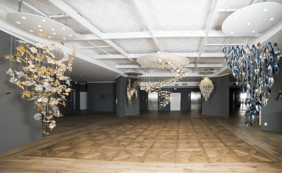 Designový showroom na eventy s výhledem na Václavském náměstí