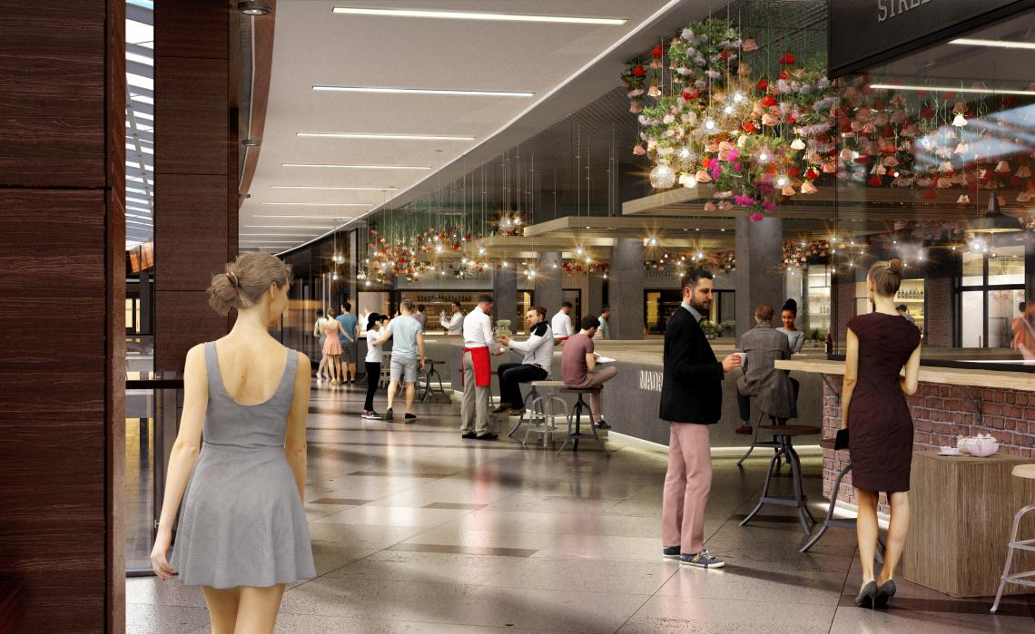 Rent a retail or gastro unit in the soon to be opened Harferia Food Hall in Galerie Harfa