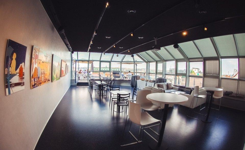 Prosklené konferenční prostory s terasou, Florenc