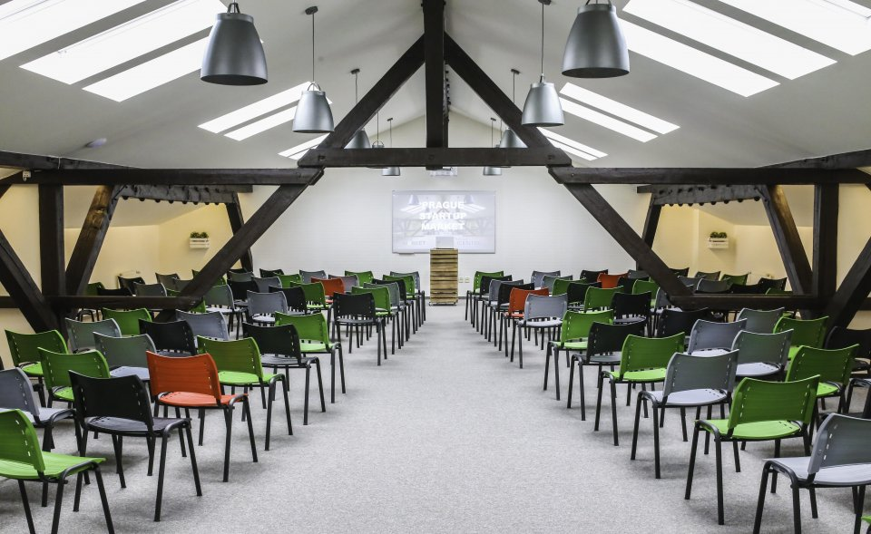Modern attic conference space, Holešovice